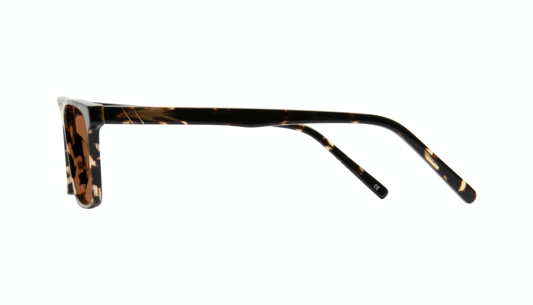 Affordable Fashion Glasses Rectangle Sunglasses Men Henri Tortoise Side
