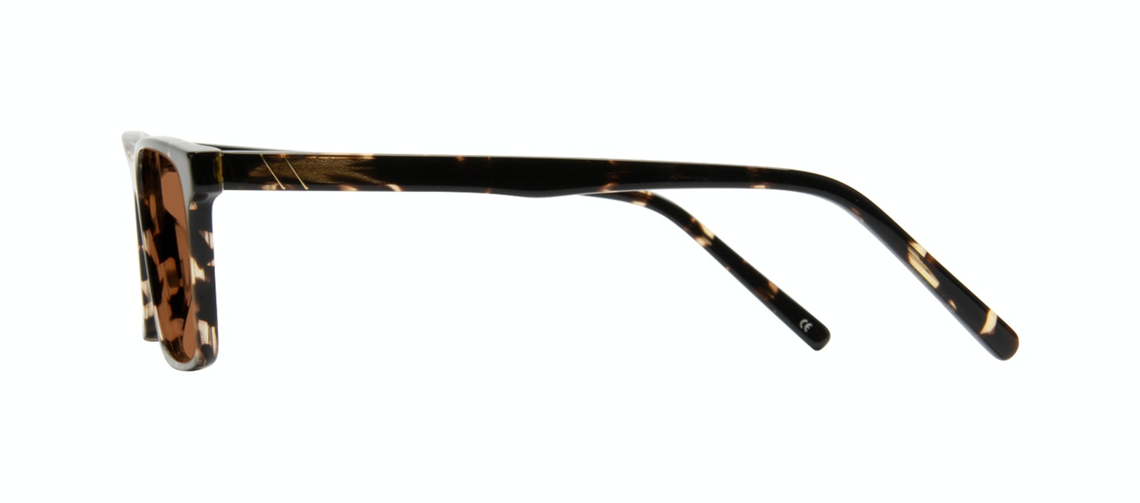 Affordable Fashion Glasses Rectangle Sunglasses Men Henri Tortoise Side