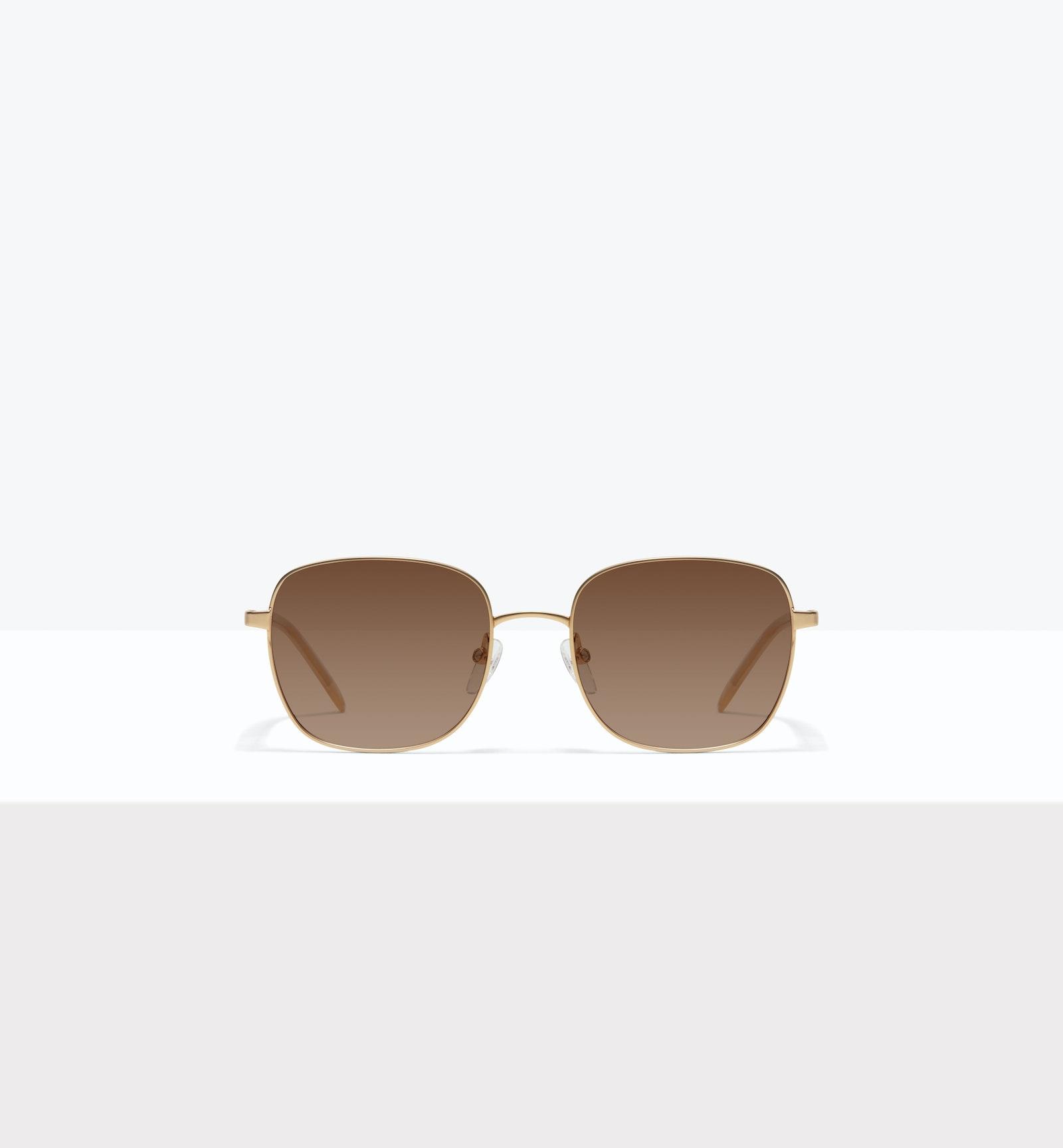 Affordable Fashion Glasses Square Sunglasses Women Henriette M Matte Gold