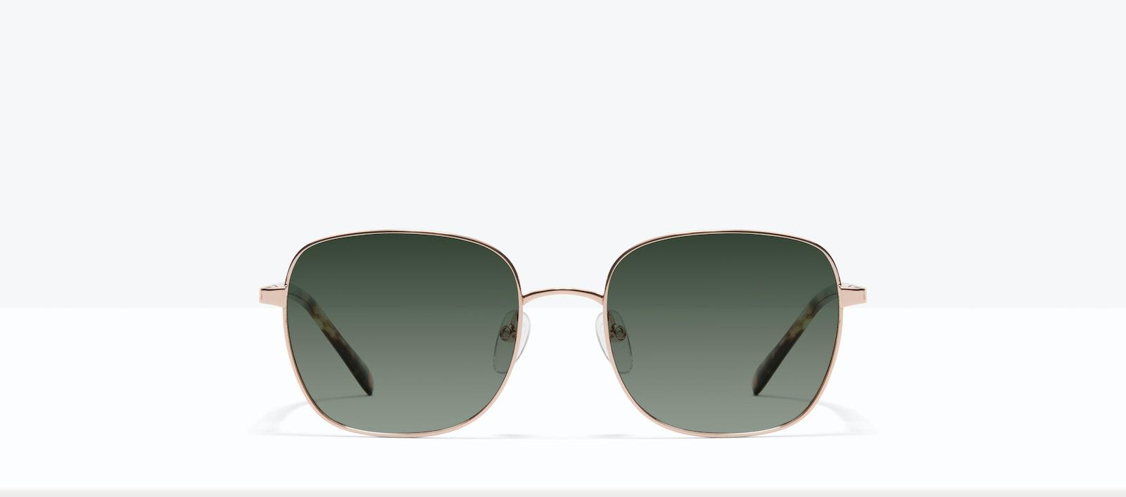 Affordable Fashion Glasses Square Sunglasses Women Henriette M Rose Gold Front