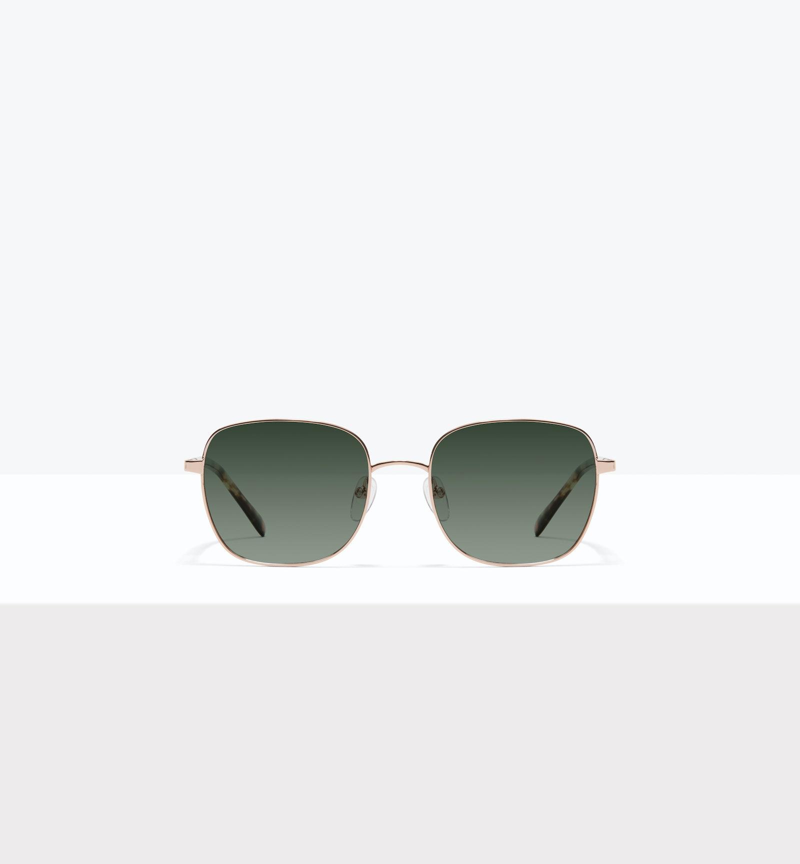 Affordable Fashion Glasses Square Sunglasses Women Henriette M Rose Gold