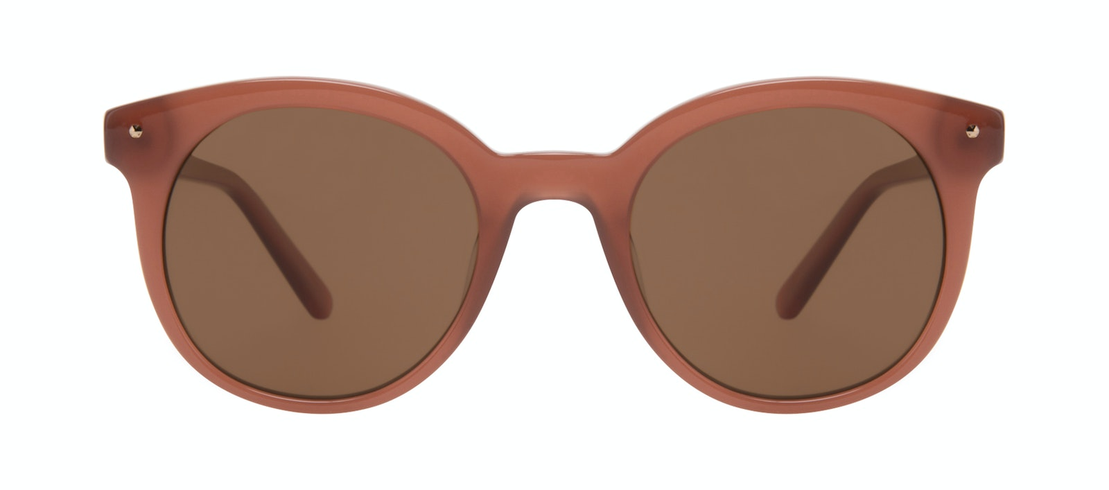 Affordable Fashion Glasses Round Sunglasses Women Hip Toffee Front