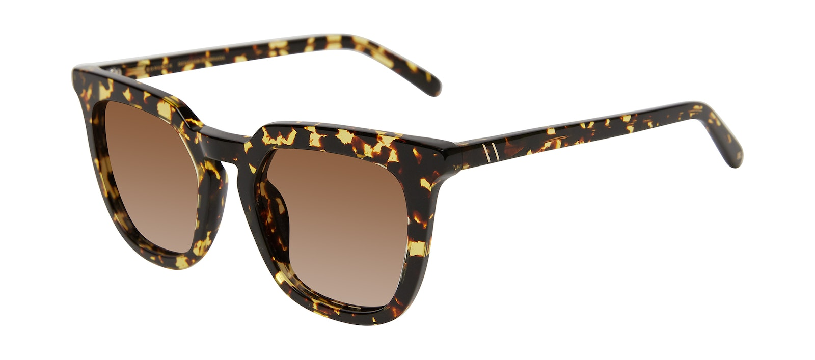 Affordable Fashion Glasses Square Sunglasses Women Hollywood Gold Flake Tilt