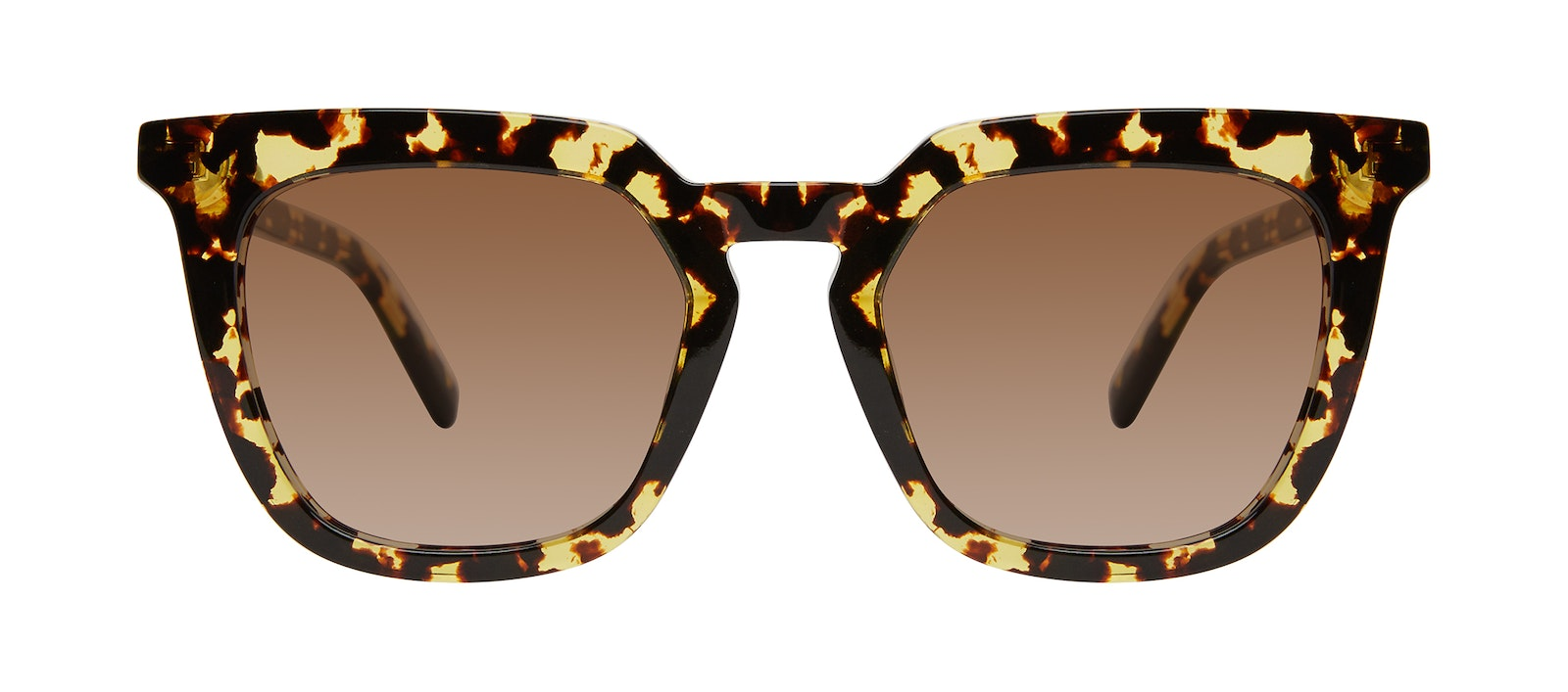 Affordable Fashion Glasses Square Sunglasses Women Hollywood Gold Flake Front