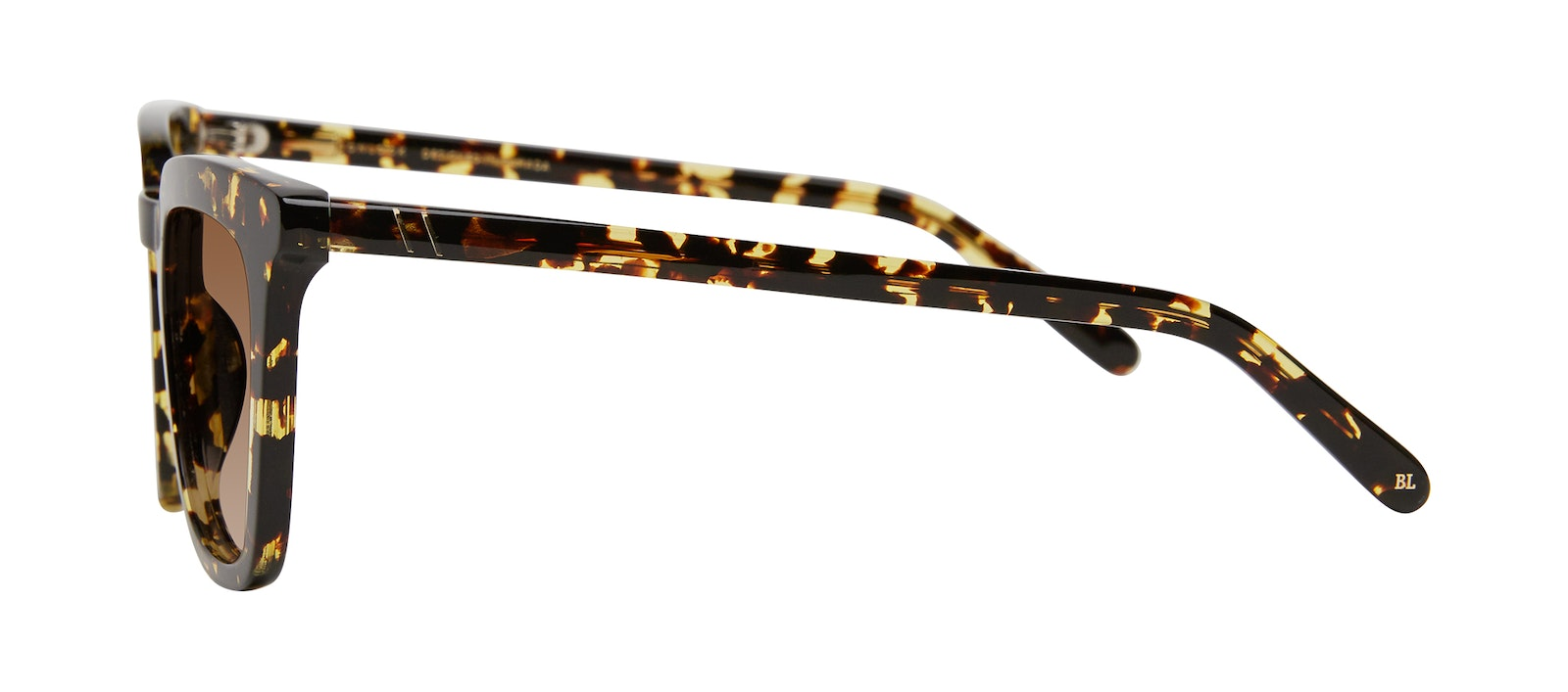 Affordable Fashion Glasses Square Sunglasses Women Hollywood Gold Flake Side