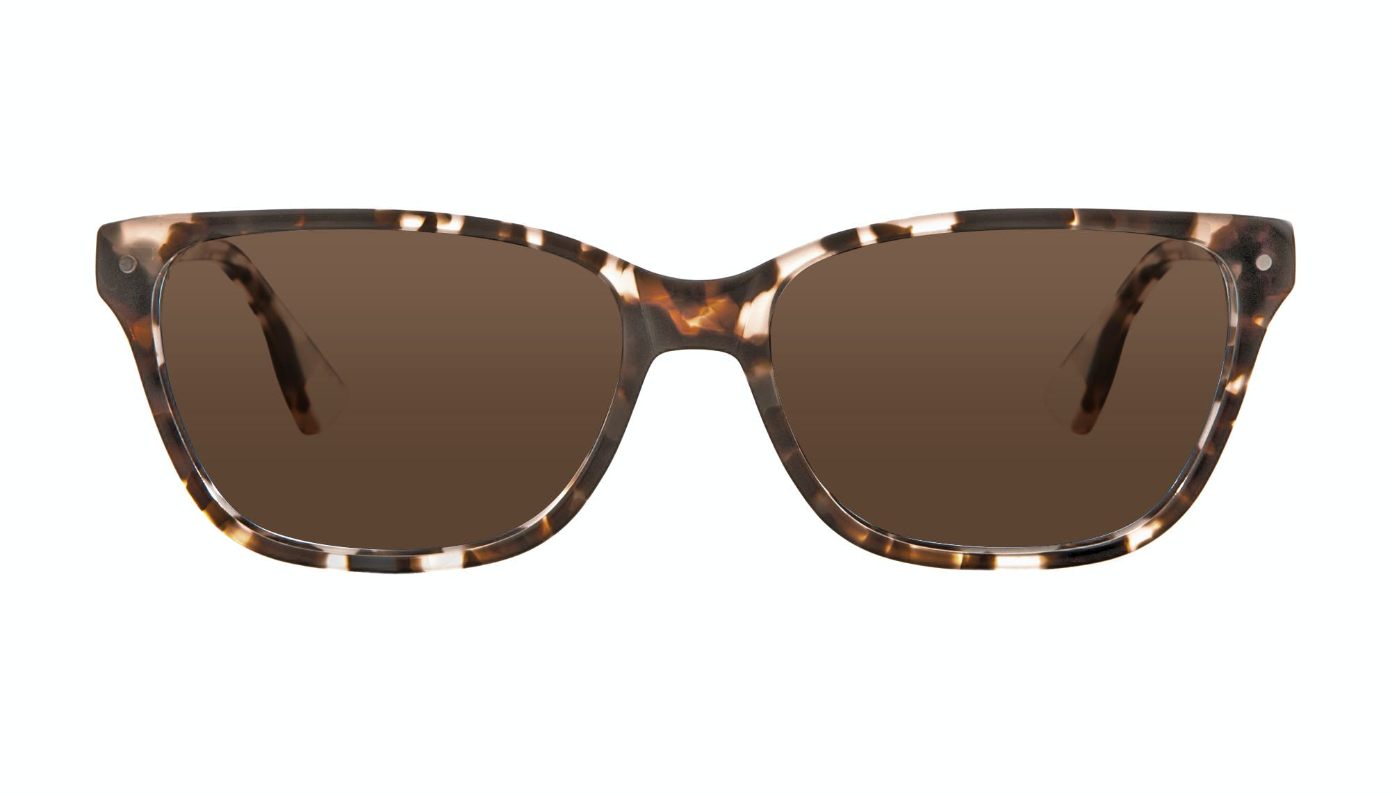 Affordable Fashion Glasses Rectangle Sunglasses Women Honeybadger Pink Tortoise Front
