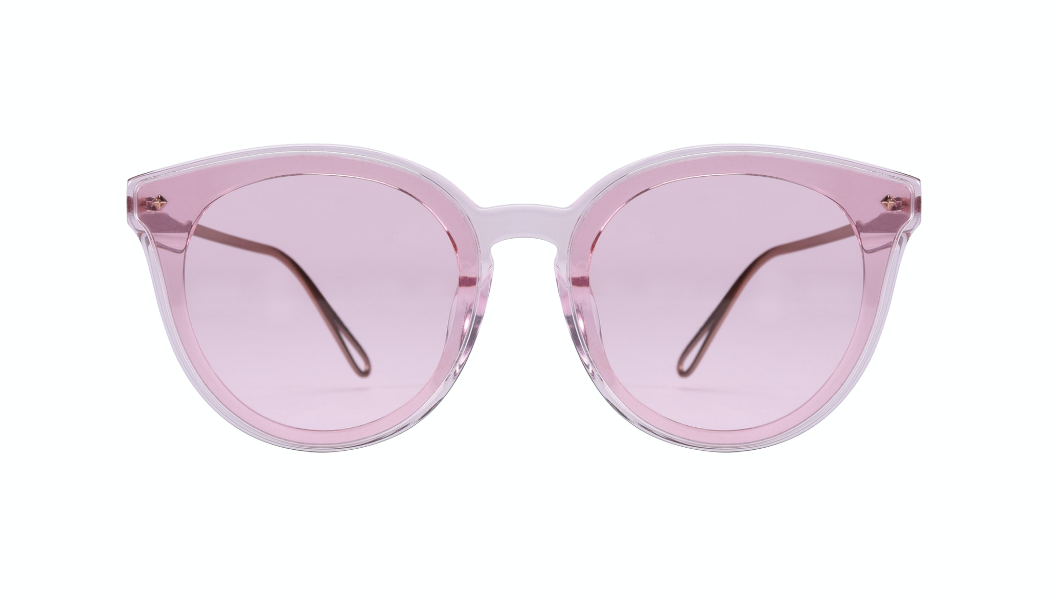 Affordable Fashion Glasses Cat Eye Sunglasses Women Icone Rose Front