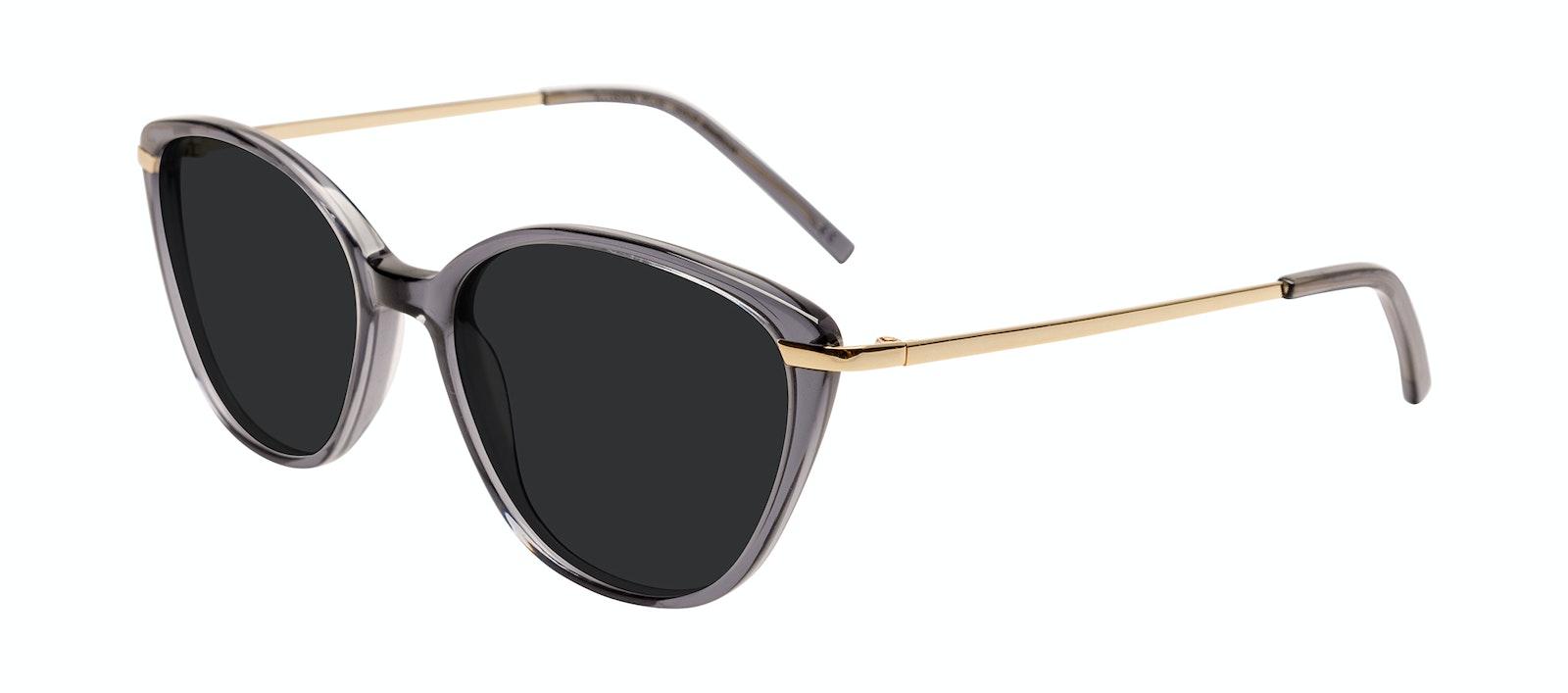 Affordable Fashion Glasses Cat Eye Sunglasses Women Illusion Plus Gold Shadow Tilt