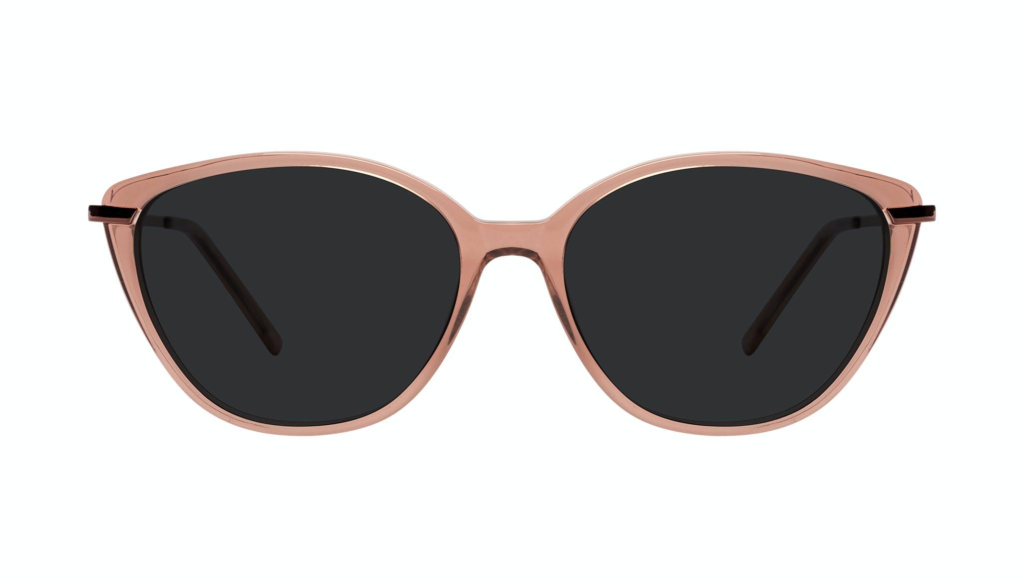 Lunettes tendance Oeil de chat Lunettes de soleil Femmes Illusion Plus Rose Face