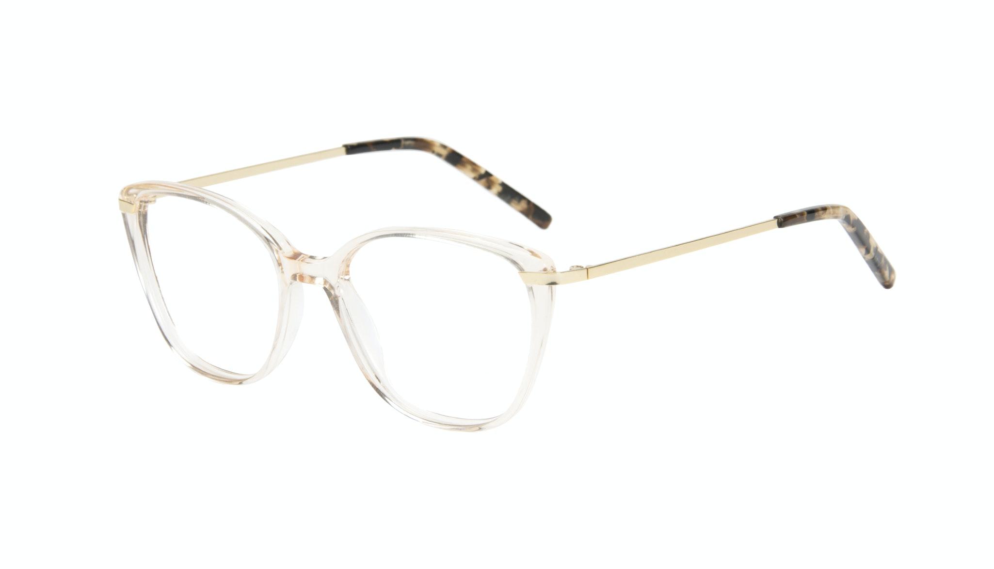 Affordable Fashion Glasses Cat Eye Rectangle Square Eyeglasses Women Illusion Blond Metal Tilt