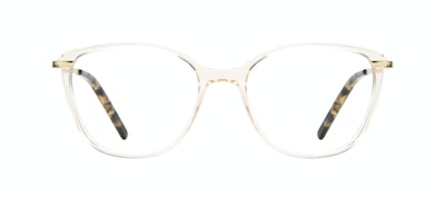 Affordable Fashion Glasses Rectangle Square Eyeglasses Women Illusion M Blond Metal Front