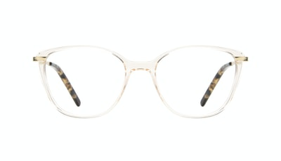 Affordable Fashion Glasses Rectangle Square Eyeglasses Women Illusion Blond Metal Front