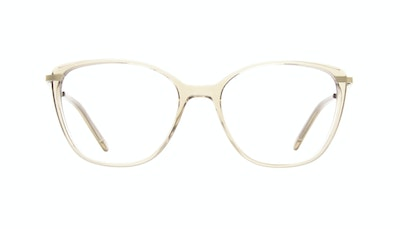 Affordable Fashion Glasses Rectangle Square Eyeglasses Women Illusion M Blond Front