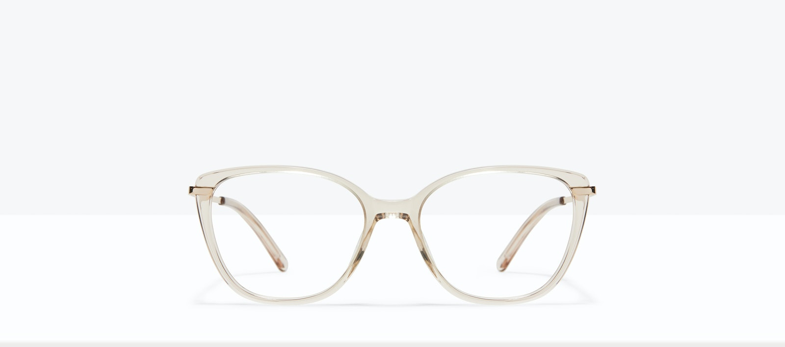 Affordable Fashion Glasses Rectangle Square Eyeglasses Women Illusion XS Blond Front