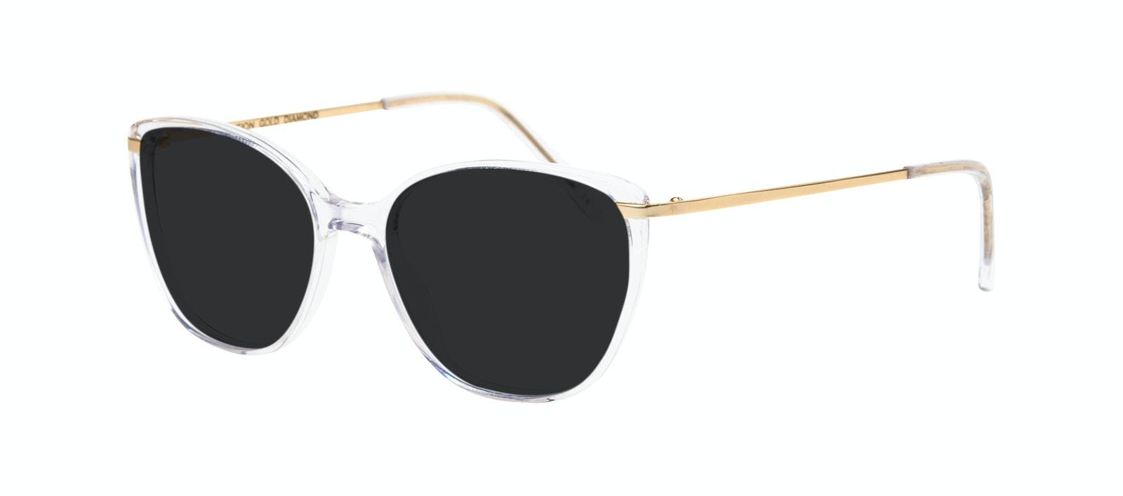 Affordable Fashion Glasses Rectangle Square Sunglasses Women Illusion Gold Diamond Tilt