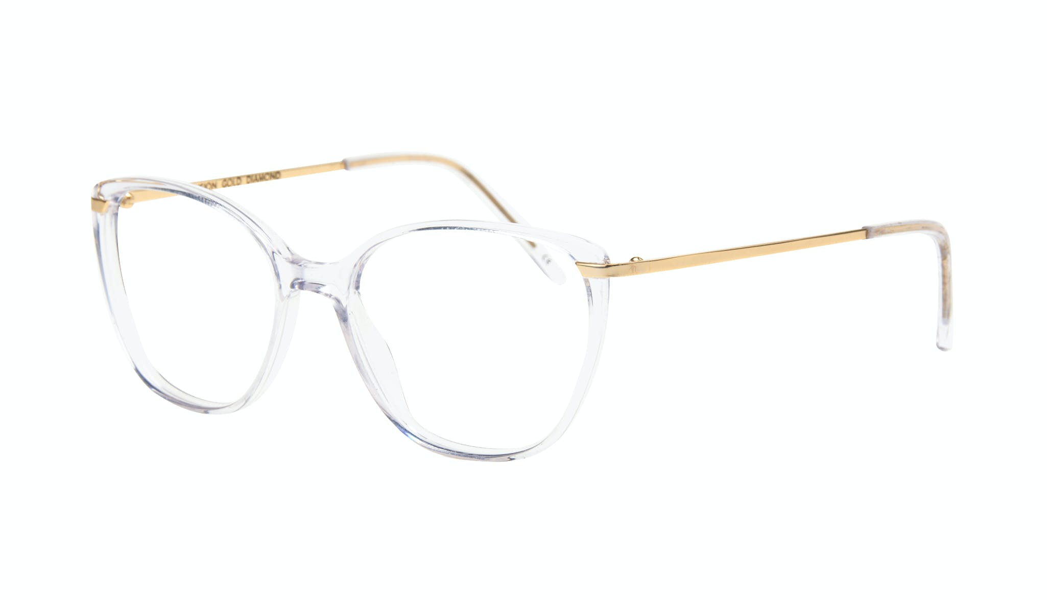 Affordable Fashion Glasses Cat Eye Rectangle Square Eyeglasses Women Illusion Gold Diamond Tilt