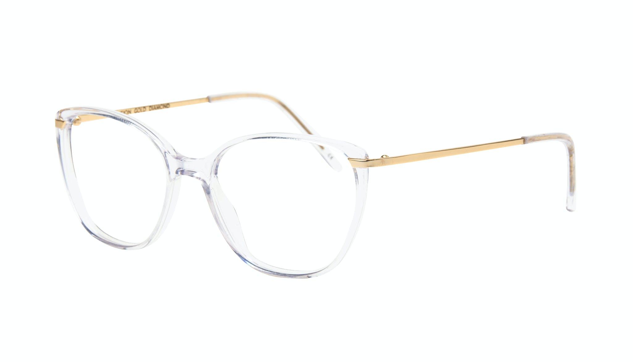 Affordable Fashion Glasses Cat Eye Rectangle Square Eyeglasses Women Illusion Gold Diamond Tilt