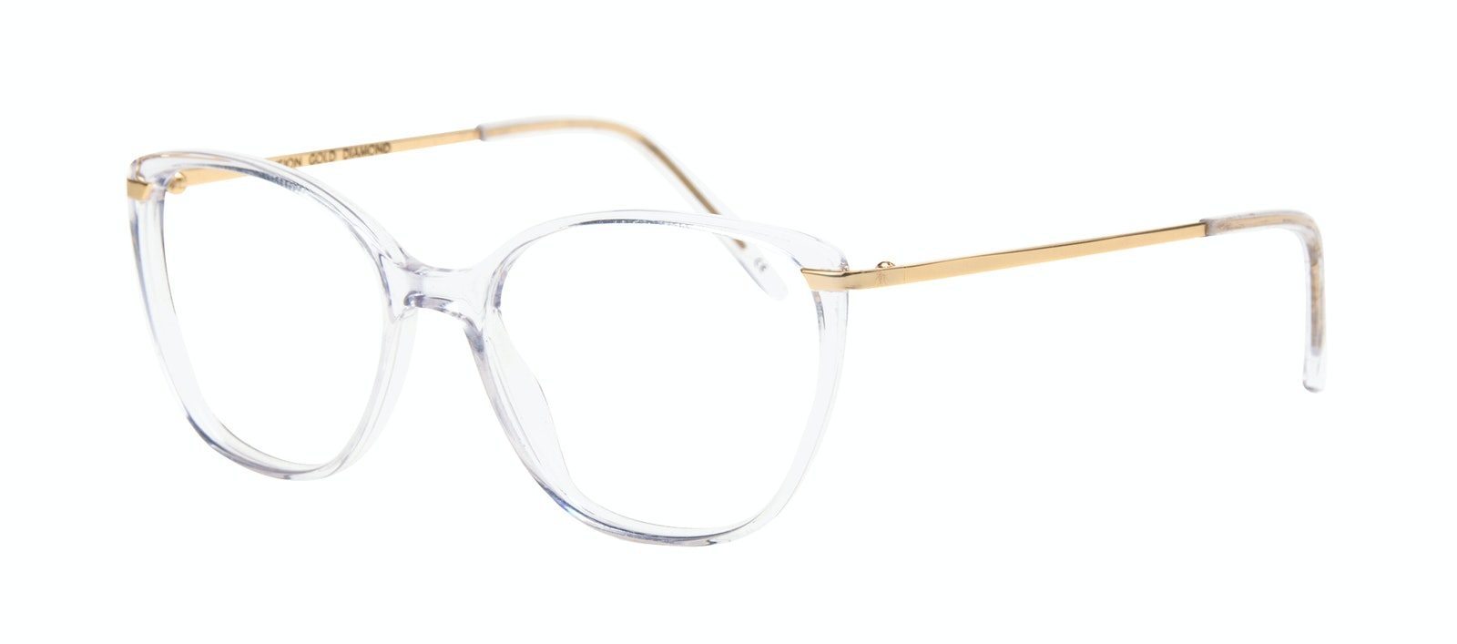 Affordable Fashion Glasses Rectangle Square Eyeglasses Women Illusion Gold Diamond Tilt