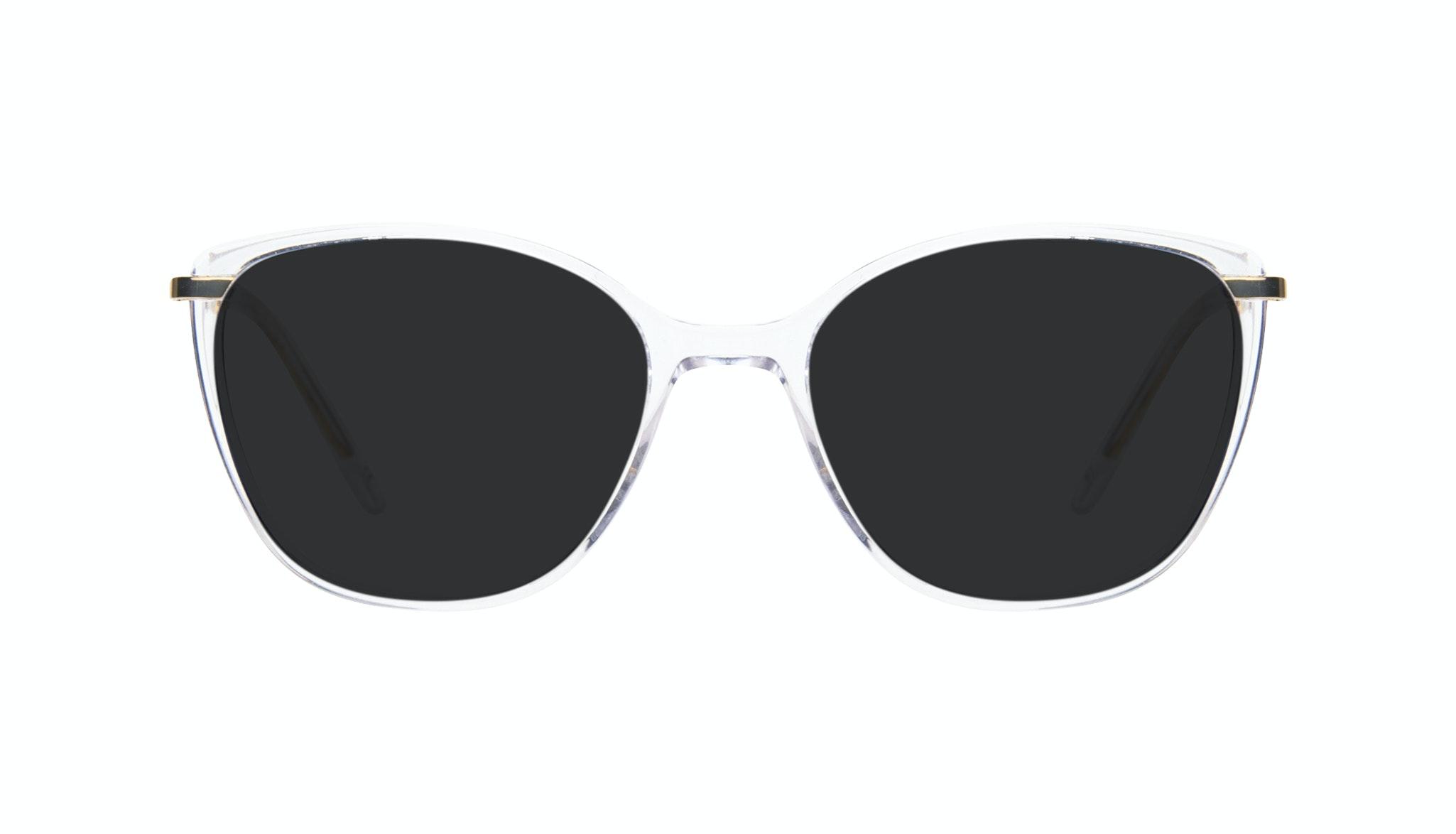 Affordable Fashion Glasses Cat Eye Rectangle Square Sunglasses Women Illusion Gold Diamond Front