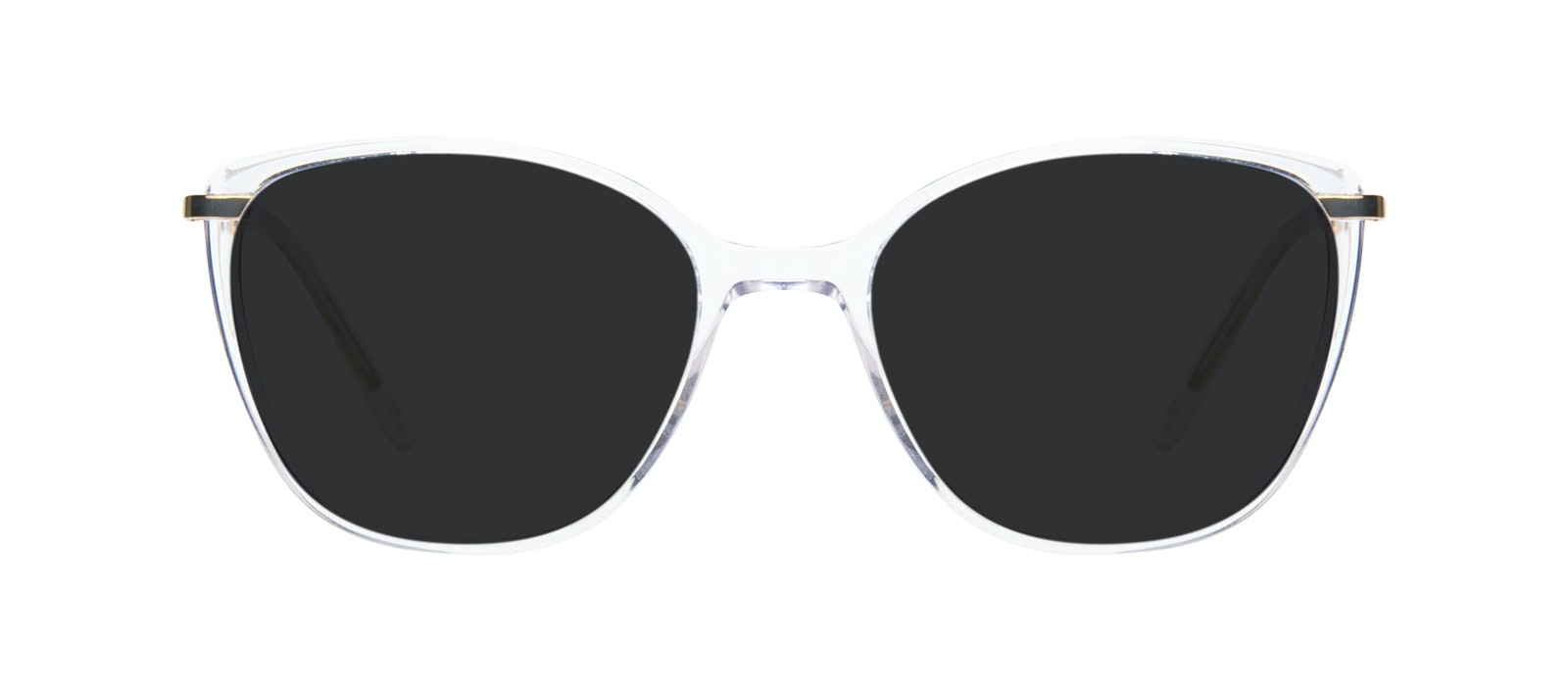 Affordable Fashion Glasses Rectangle Square Sunglasses Women Illusion Gold Diamond Front