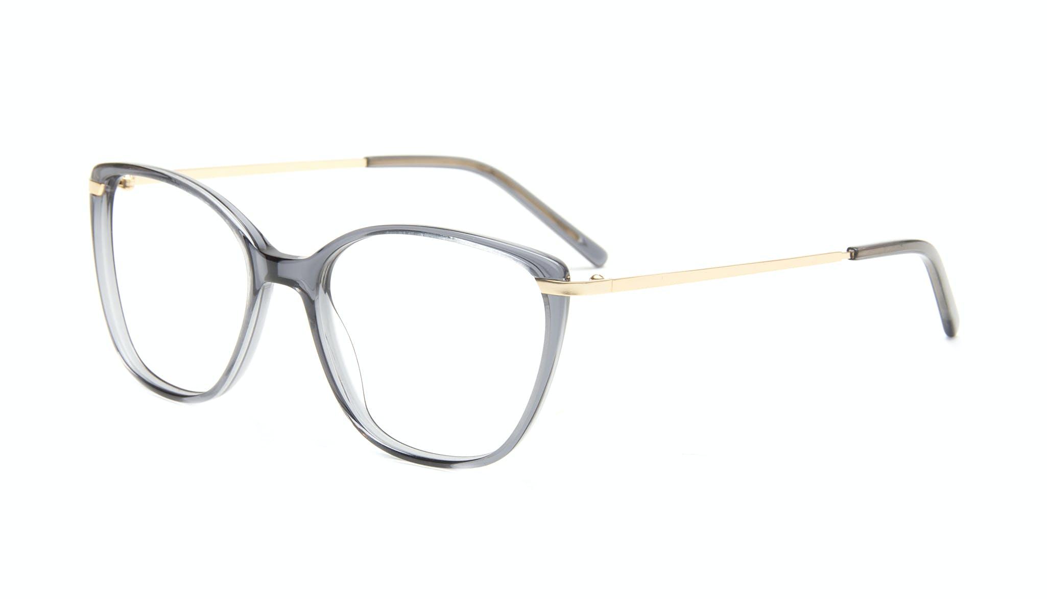 Affordable Fashion Glasses Cat Eye Rectangle Square Eyeglasses Women Illusion Gold Shadow Tilt