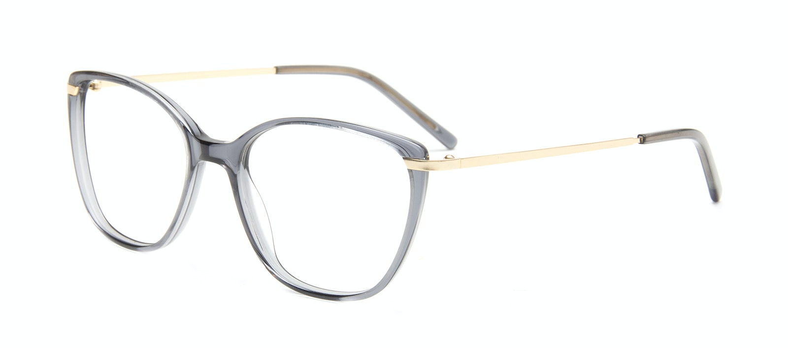 Affordable Fashion Glasses Rectangle Square Eyeglasses Women Illusion Gold Shadow Tilt
