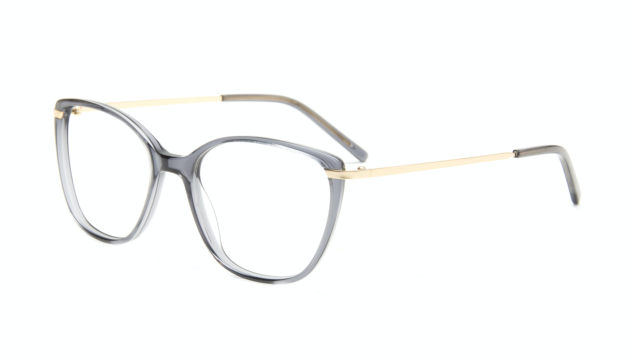 Affordable Fashion Glasses Cat Eye Rectangle Eyeglasses Women Illusion Gold Shadow Tilt