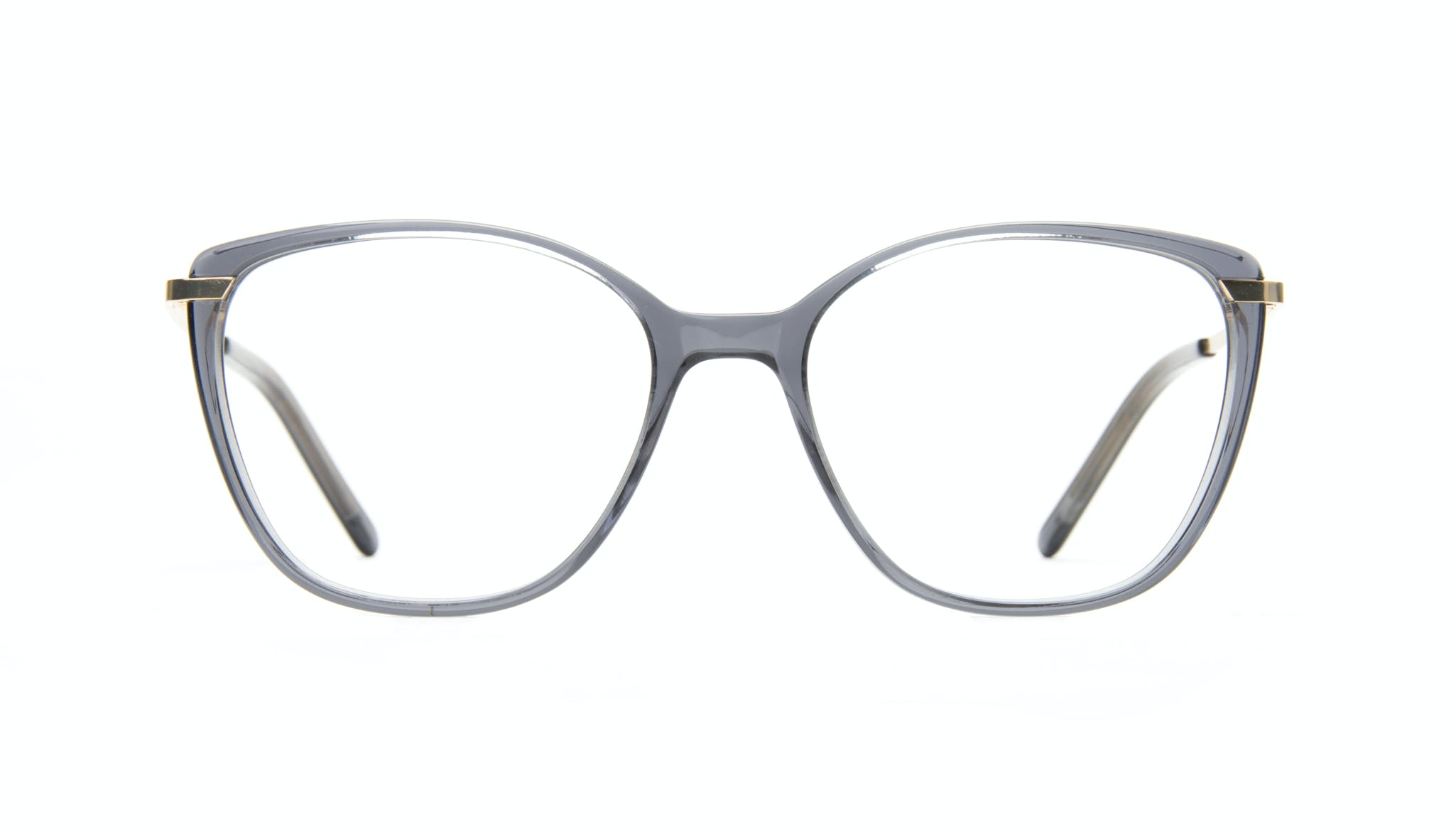 Affordable Fashion Glasses Cat Eye Rectangle Square Eyeglasses Women Illusion Gold Shadow Front