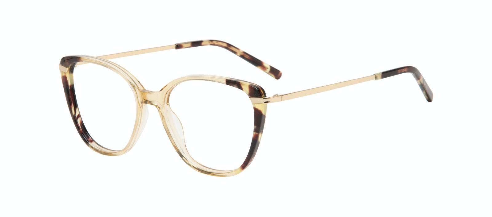 Affordable Fashion Glasses Rectangle Square Eyeglasses Women Illusion Golden Tort Tilt