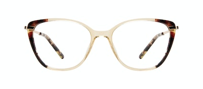 Affordable Fashion Glasses Rectangle Square Eyeglasses Women Illusion Golden Tort Front