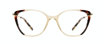 Lunettes tendance Rectangle Carrée Lunettes de vue Femmes Illusion Golden Tort Face