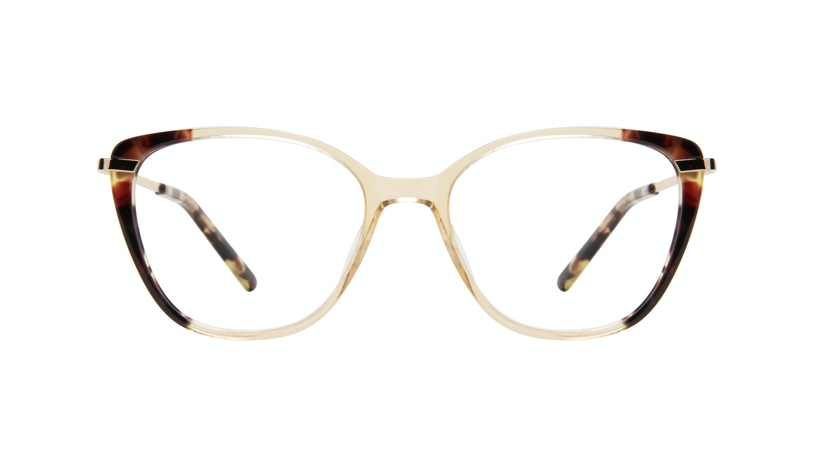 Affordable Fashion Glasses Rectangle Square Eyeglasses Women Illusion Golden Tort