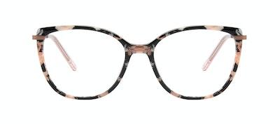 Affordable Fashion Glasses Rectangle Square Eyeglasses Women Illusion Licorice Front