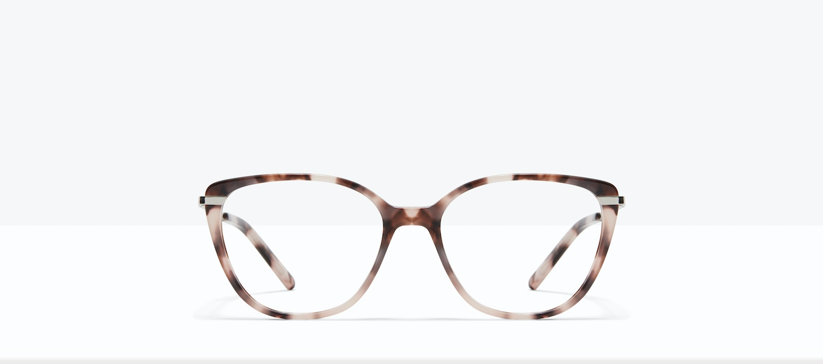 Affordable Fashion Glasses Rectangle Square Eyeglasses Women Illusion M Marbled Pink Front