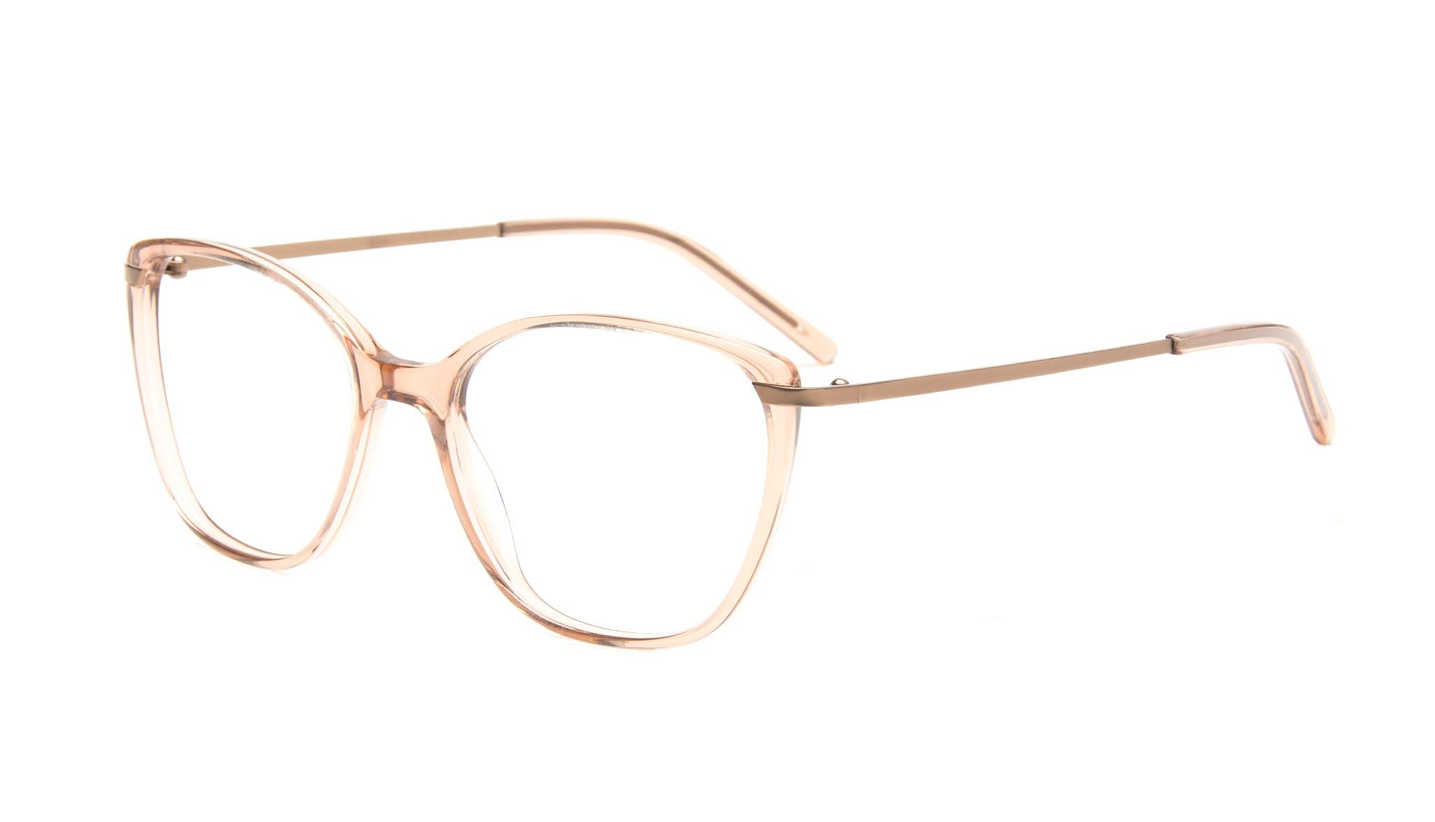 Lunettes tendance Oeil de chat Rectangle Carrée Lunettes de vue Femmes Illusion Rose Incliné