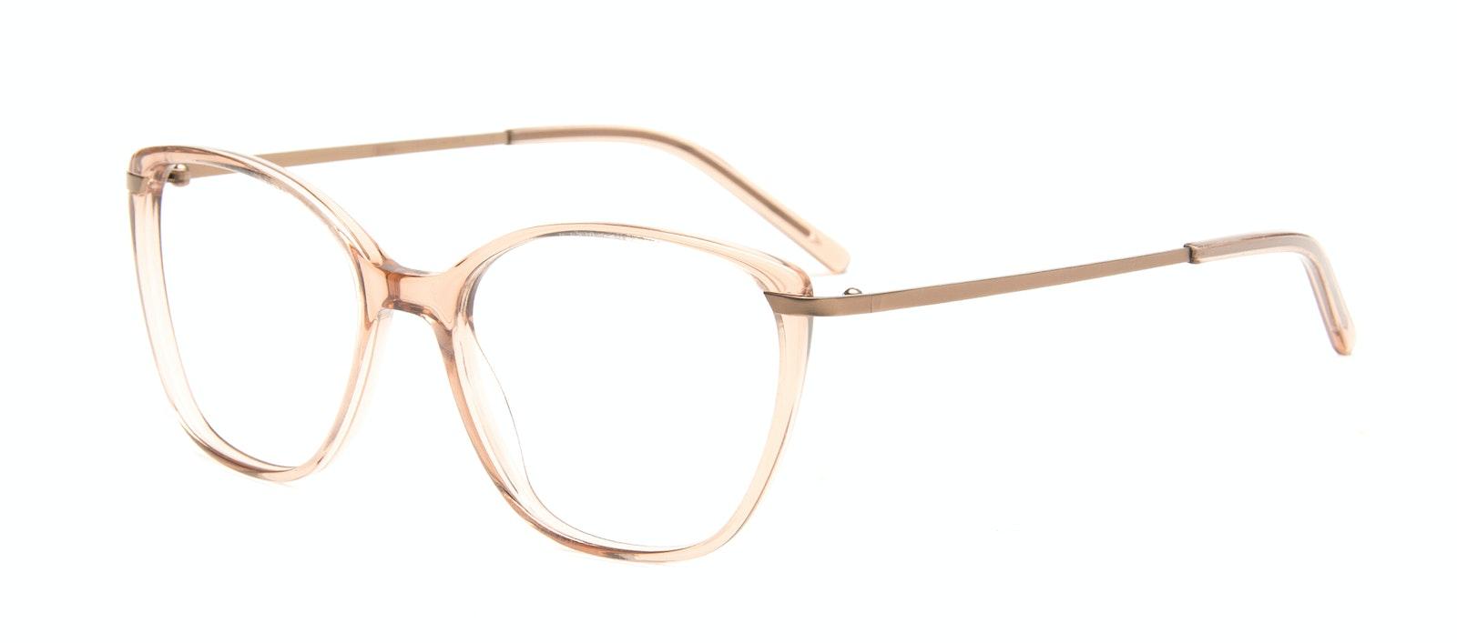 Affordable Fashion Glasses Rectangle Square Eyeglasses Women Illusion Rose Tilt