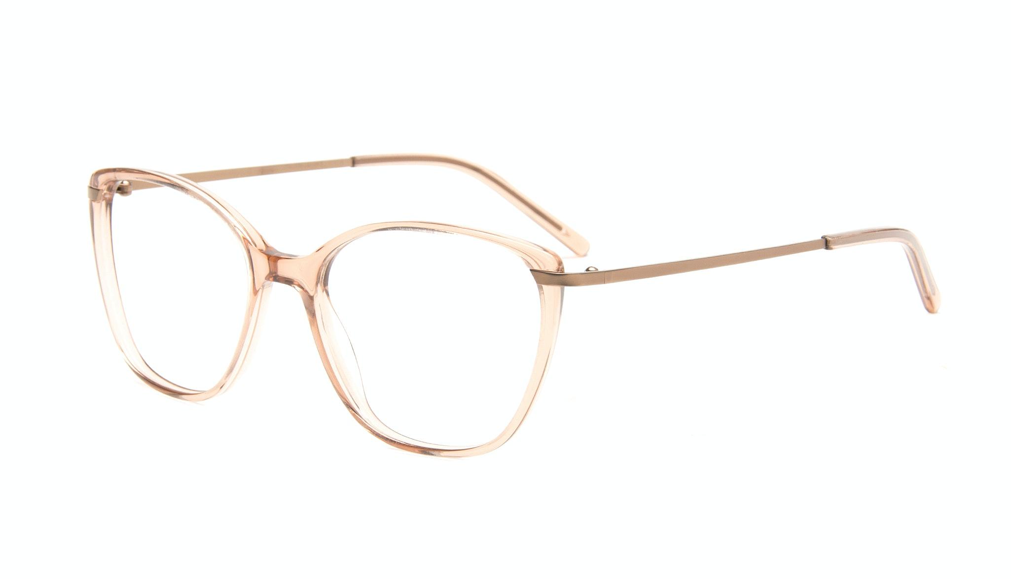 Affordable Fashion Glasses Cat Eye Rectangle Eyeglasses Women Illusion Rose Tilt