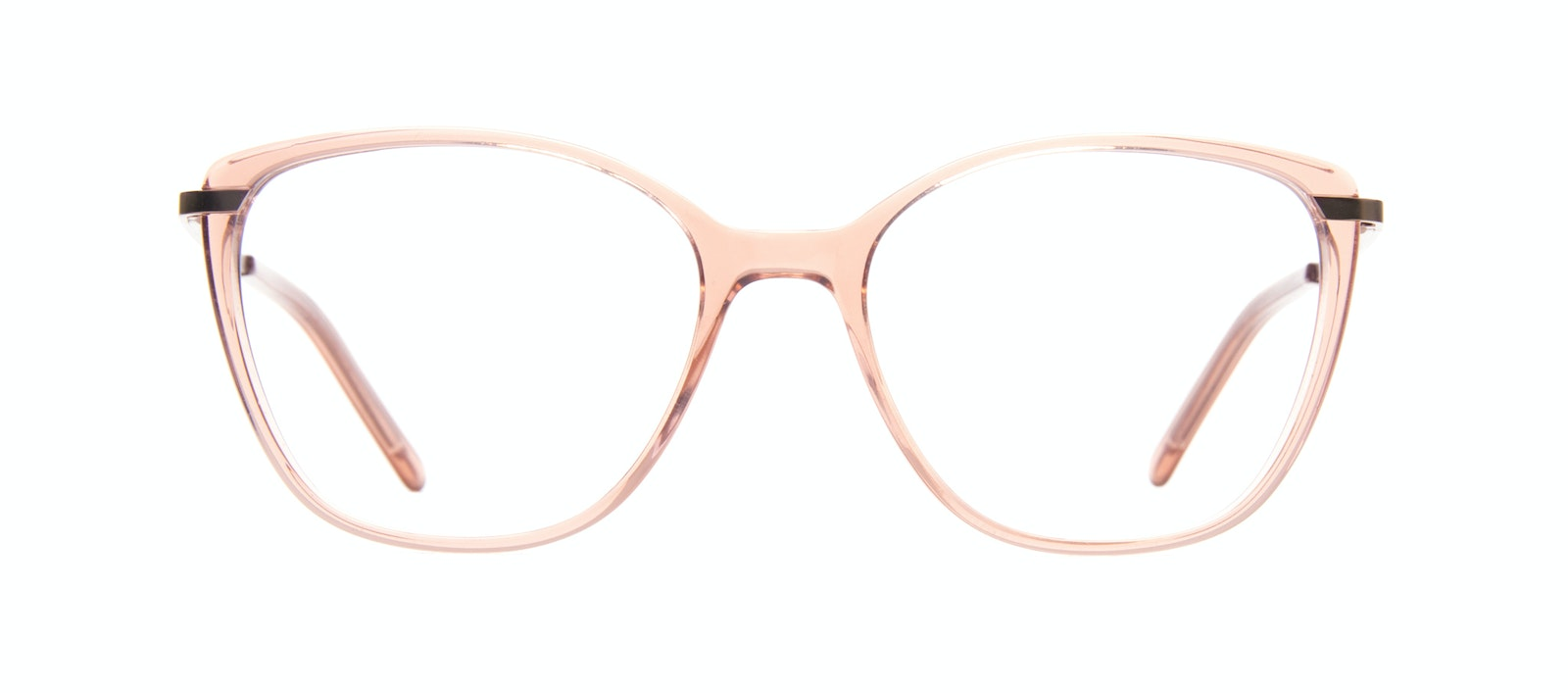 Affordable Fashion Glasses Rectangle Square Eyeglasses Women Illusion M Rose Front