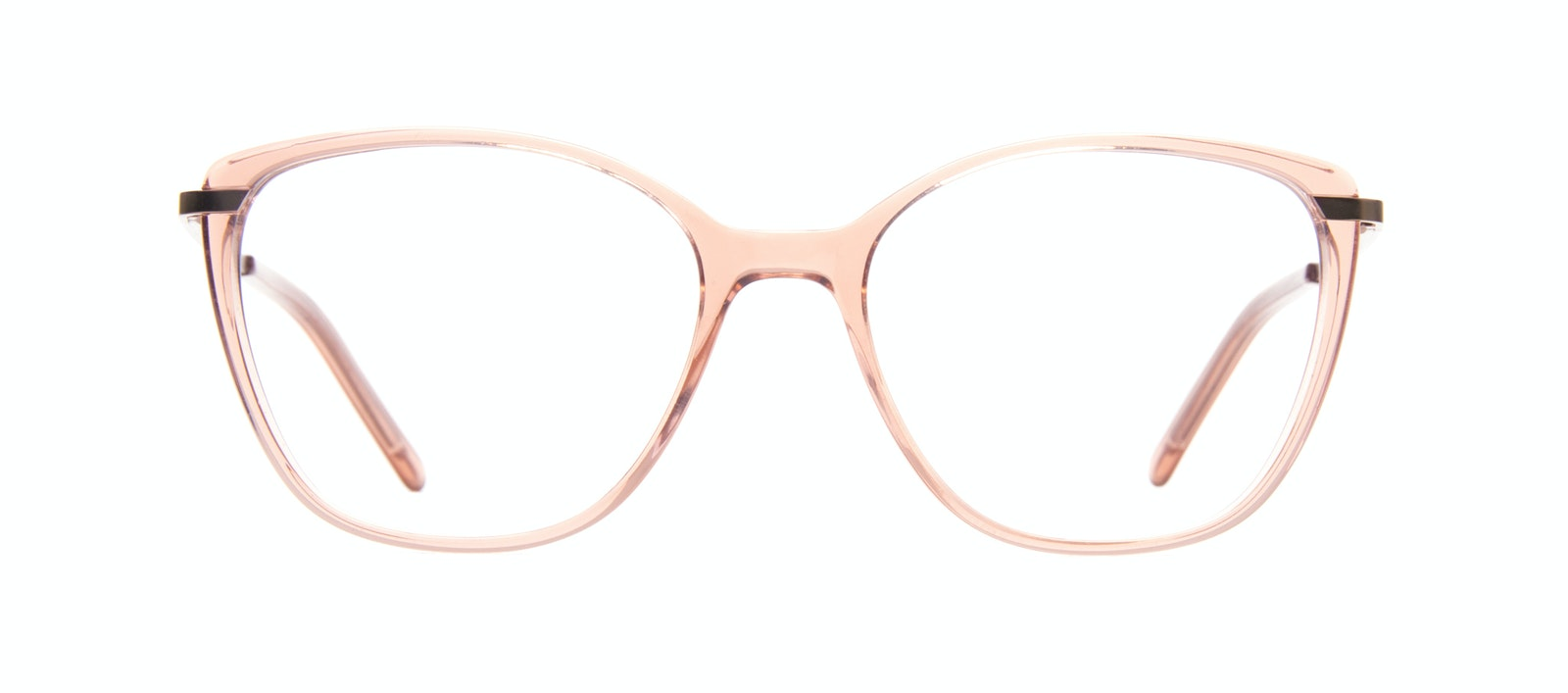 Affordable Fashion Glasses Rectangle Square Eyeglasses Women Illusion Rose Front