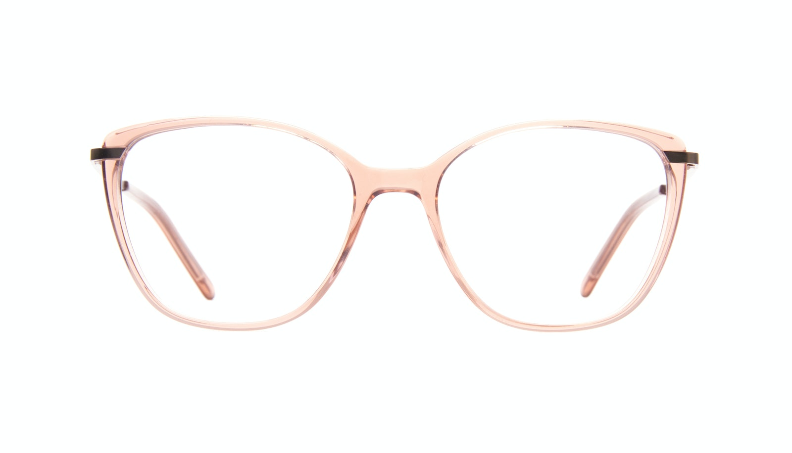 Affordable Fashion Glasses Rectangle Square Eyeglasses Women Illusion Rose