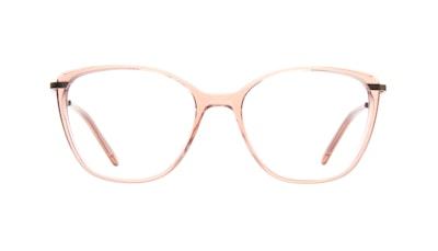 Lunettes tendance Rectangle Carrée Lunettes de vue Femmes Illusion Rose Face