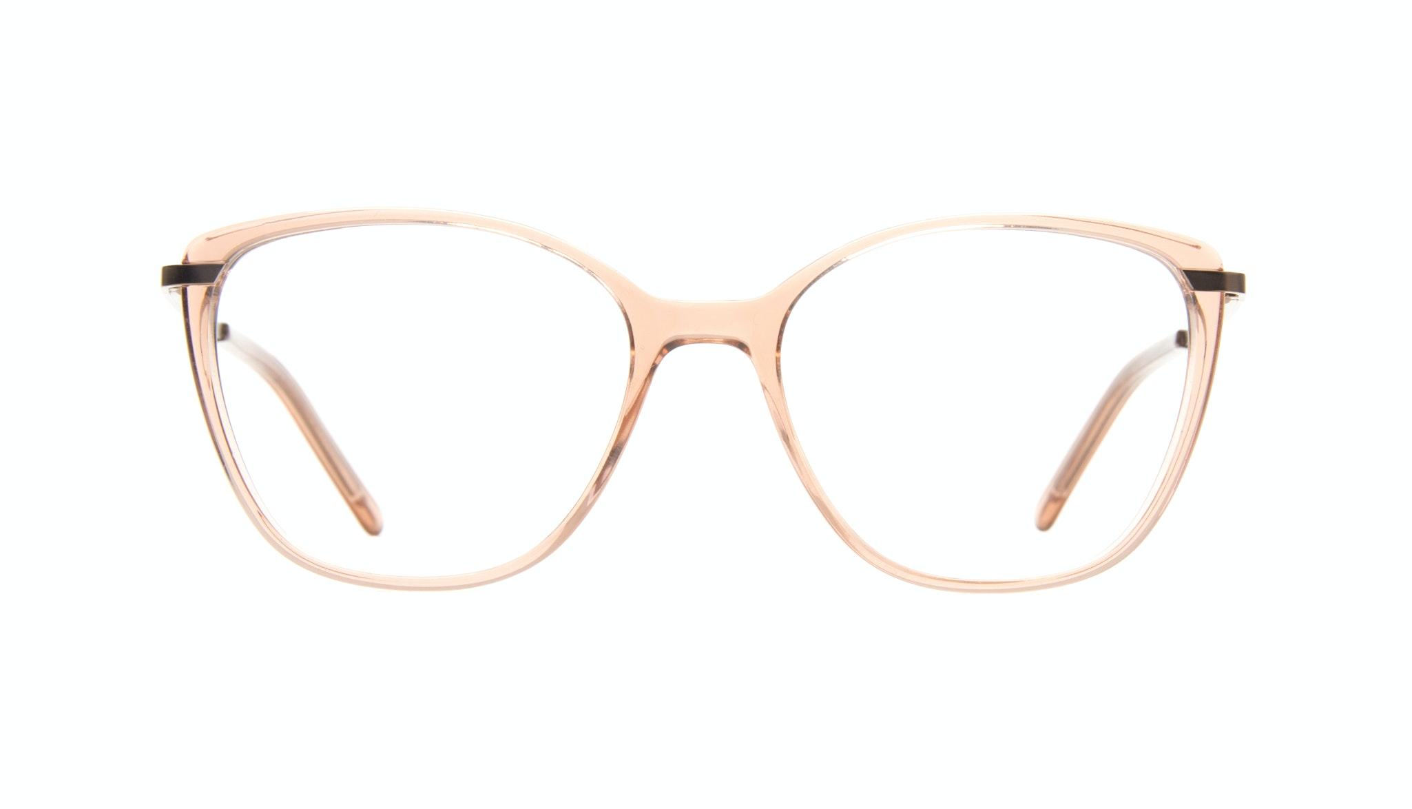 Affordable Fashion Glasses Cat Eye Rectangle Eyeglasses Women Illusion Rose Front