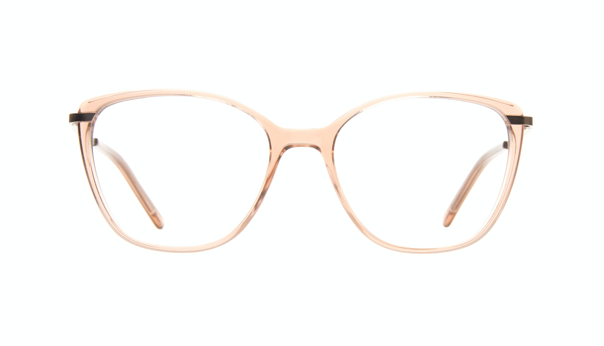 Affordable Fashion Glasses Cat Eye Rectangle Square Eyeglasses Women Illusion Rose Front