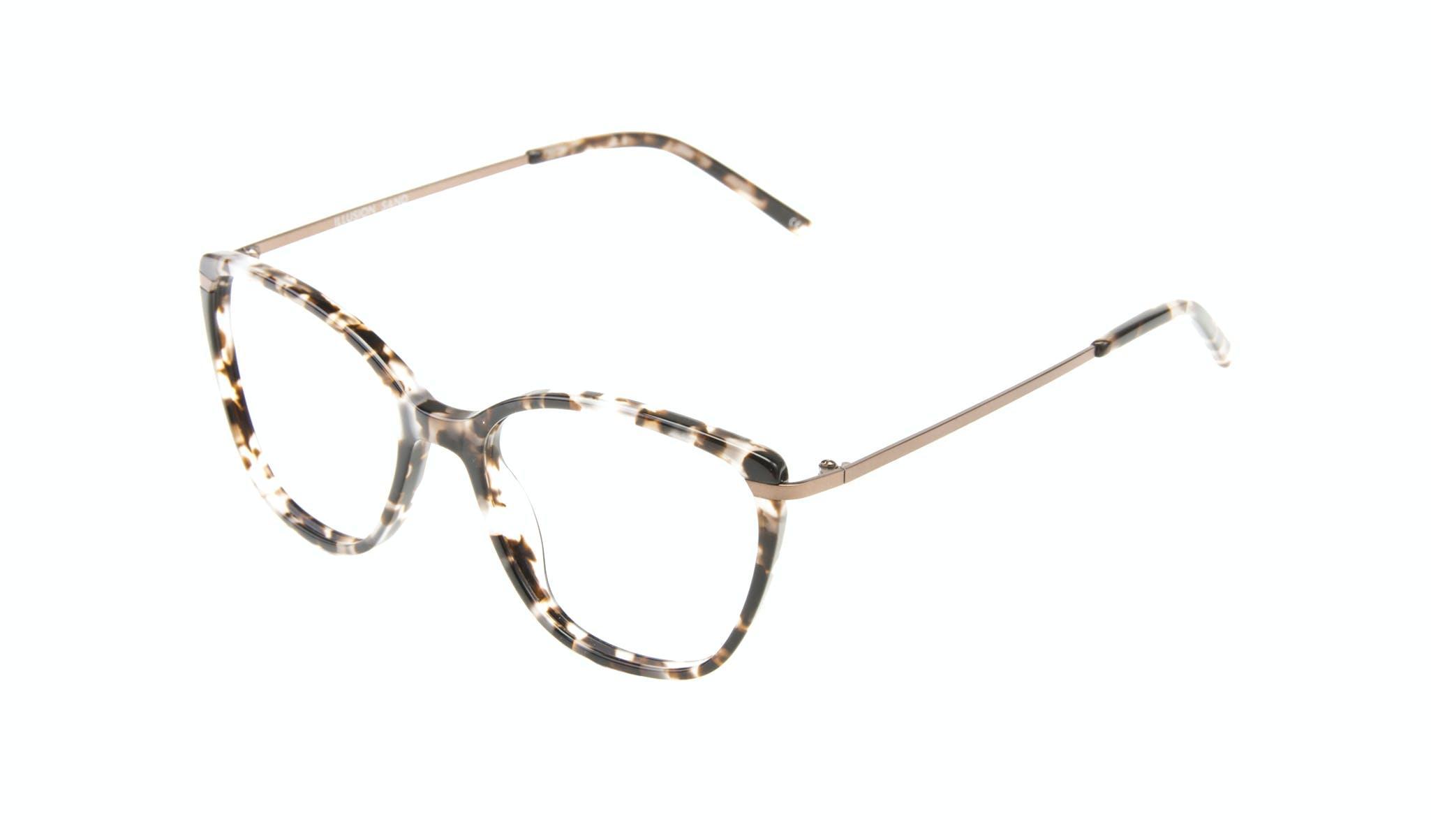 Affordable Fashion Glasses Cat Eye Rectangle Square Eyeglasses Women Illusion Sand Tilt