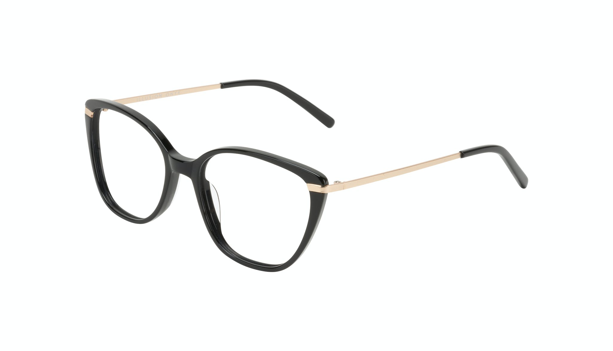 Affordable Fashion Glasses Cat Eye Rectangle Square Eyeglasses Women Illusion Onyx Tilt