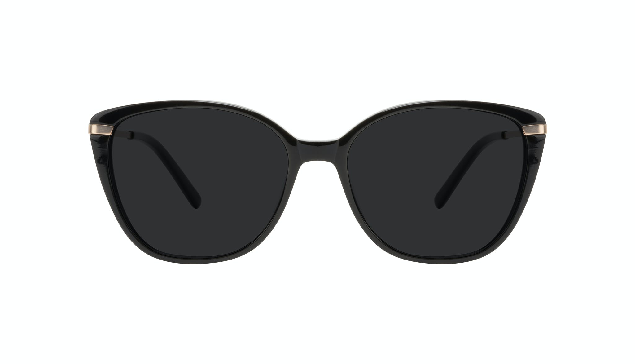 Affordable Fashion Glasses Cat Eye Rectangle Square Sunglasses Women Illusion Onyx Front