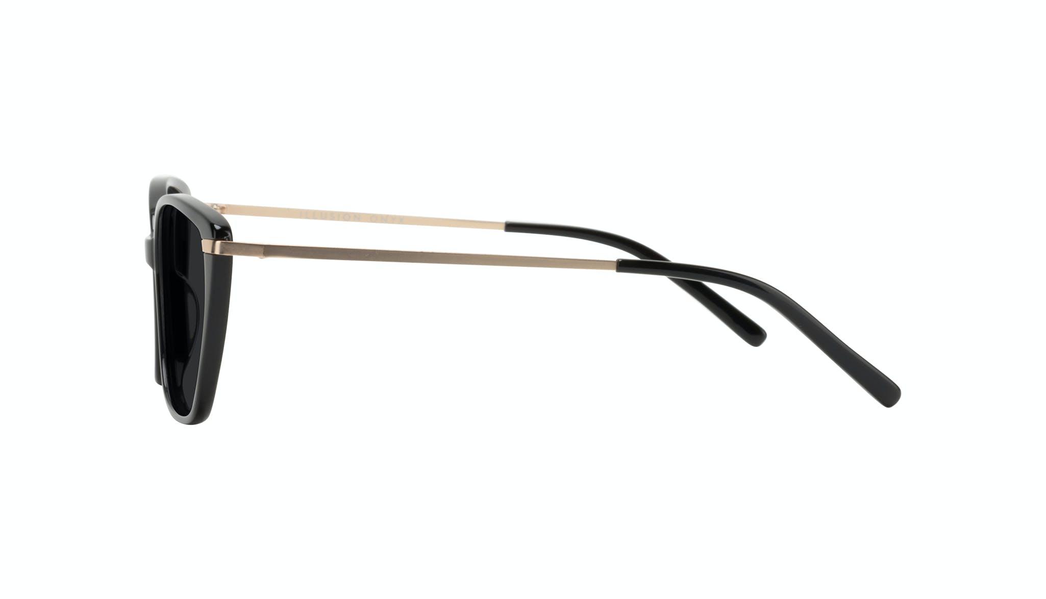 Lunettes tendance Oeil de chat Rectangle Carrée Lunettes de soleil Femmes Illusion Onyx Profil
