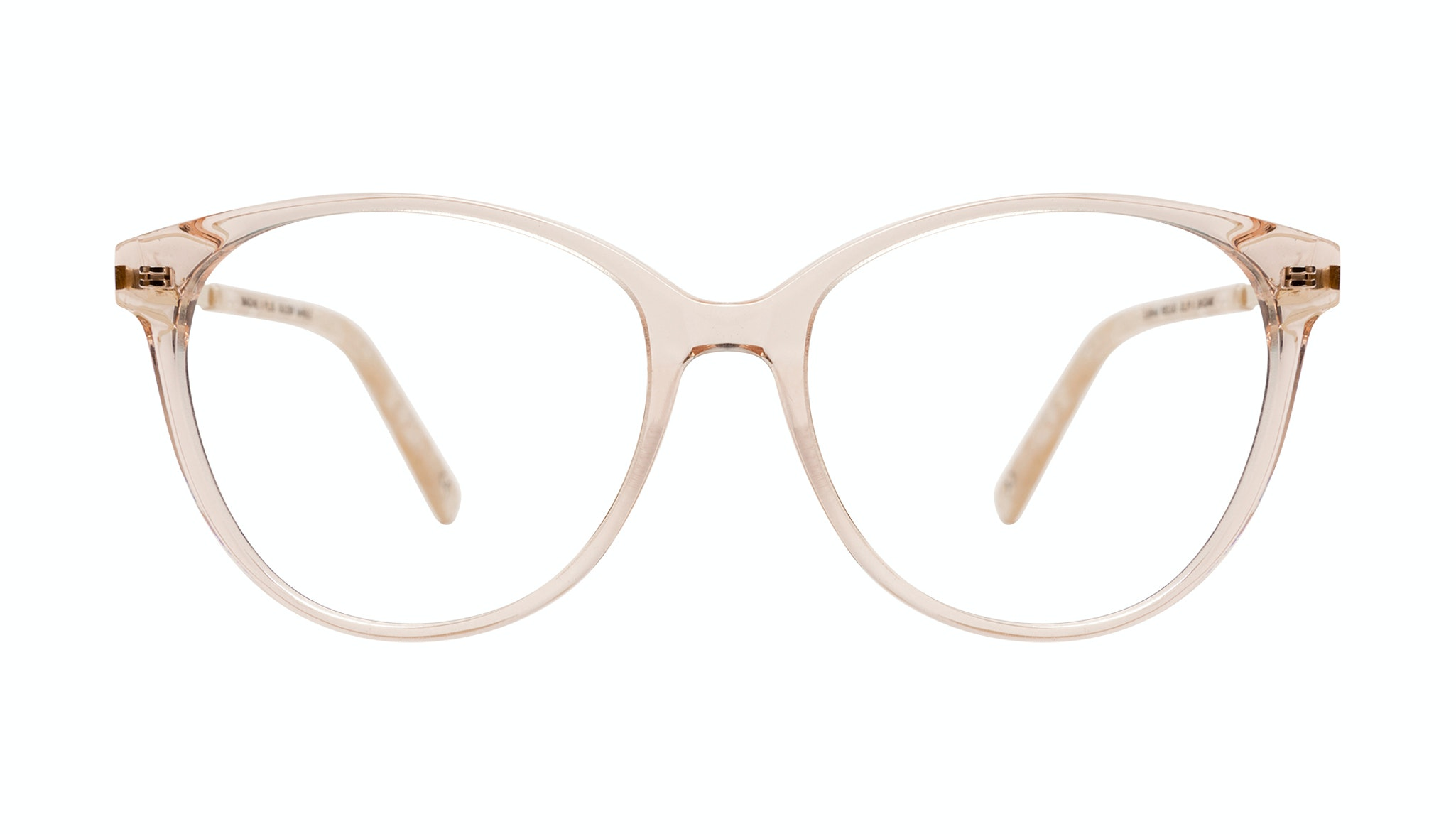 Affordable Fashion Glasses Round Eyeglasses Women Imagine II Plus Golden Marble