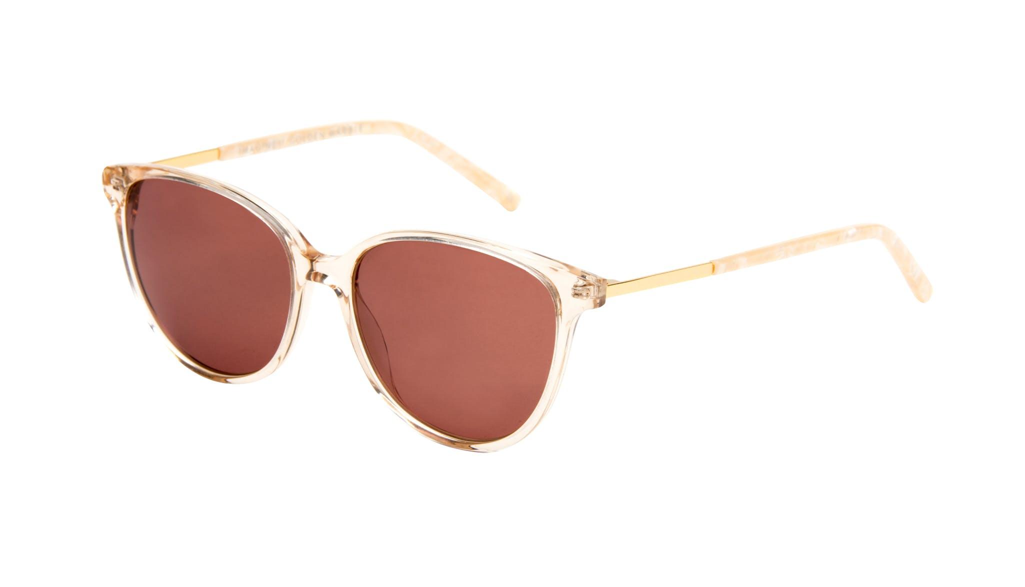 Affordable Fashion Glasses Cat Eye Sunglasses Women Imagine II Golden Marble Tilt
