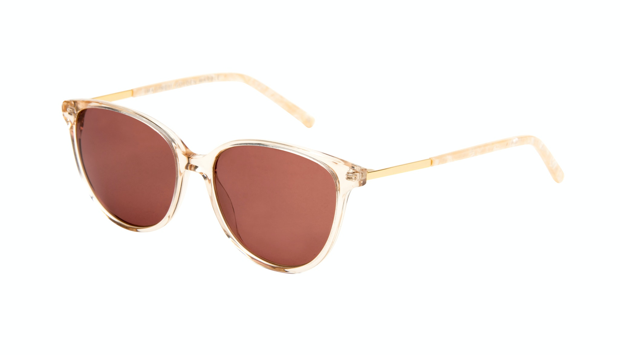 Affordable Fashion Glasses Cat Eye Sunglasses Women Imagine II Golden Marble Tilt